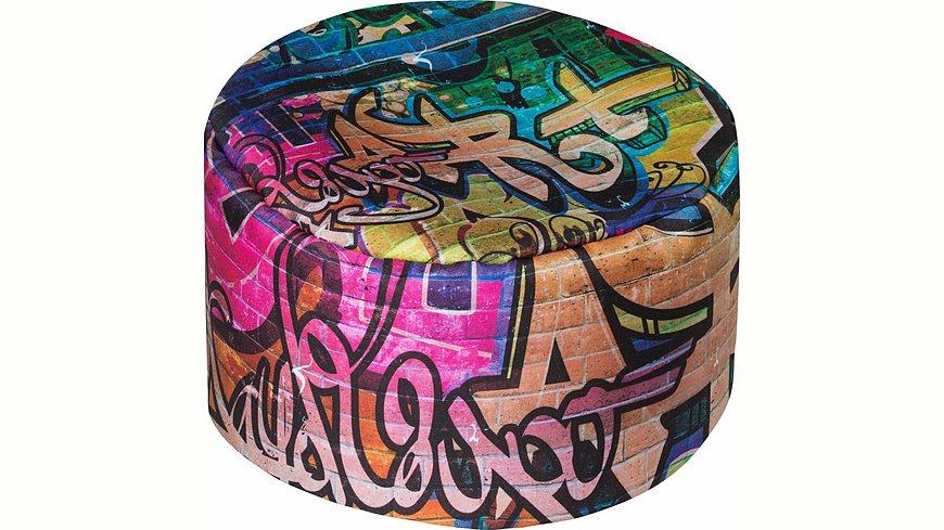 Sitting Point Sitzsack »Sitzhocker DotCom GRAFFITI«Freitext Digitaldruck