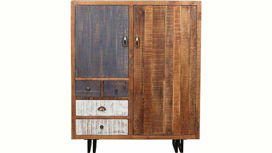 The Wood Times Kommode «New Rustic», mit 2 Türen und 3 Schubladen