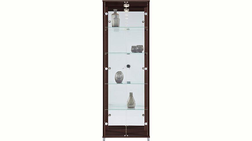 Vitrine, 2-türig mit Spiegelrückwand, 4 Glasböden