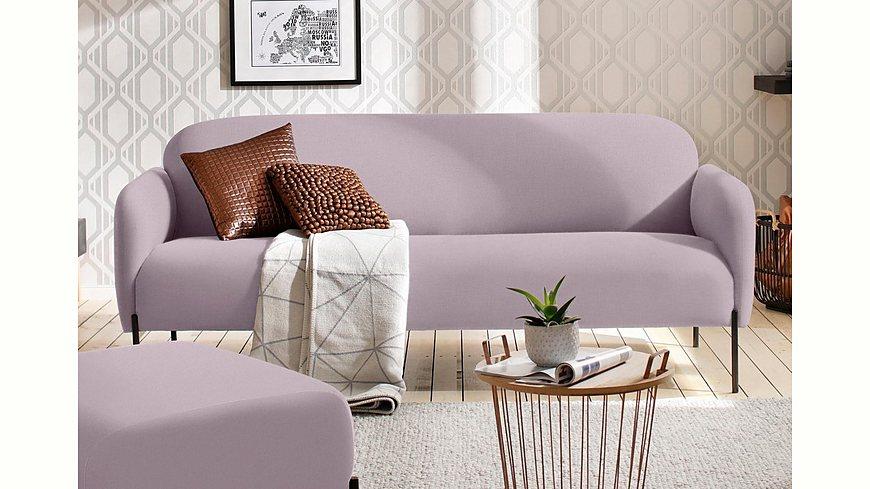 andas 3-Sitzer »Bold«, edles, skandinavisches Design, mit Stahlbeinen