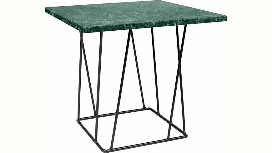 andas Beistelltisch »Helix« aus Marmor, wahlweise mit Gestell aus schwarzem oder grünem Metall