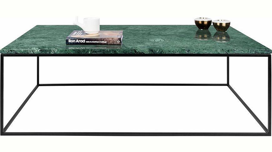 andas Couchtisch »Gleam« aus Marmor, wahlweise mit Gestell aus Chrom oder schwarzem Metall
