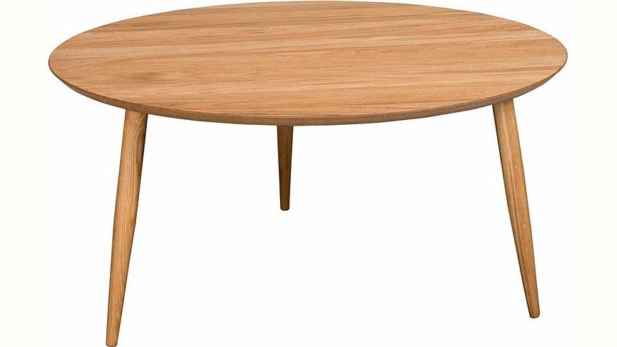 andas Couchtisch «Voa», mit runder Tischplatte