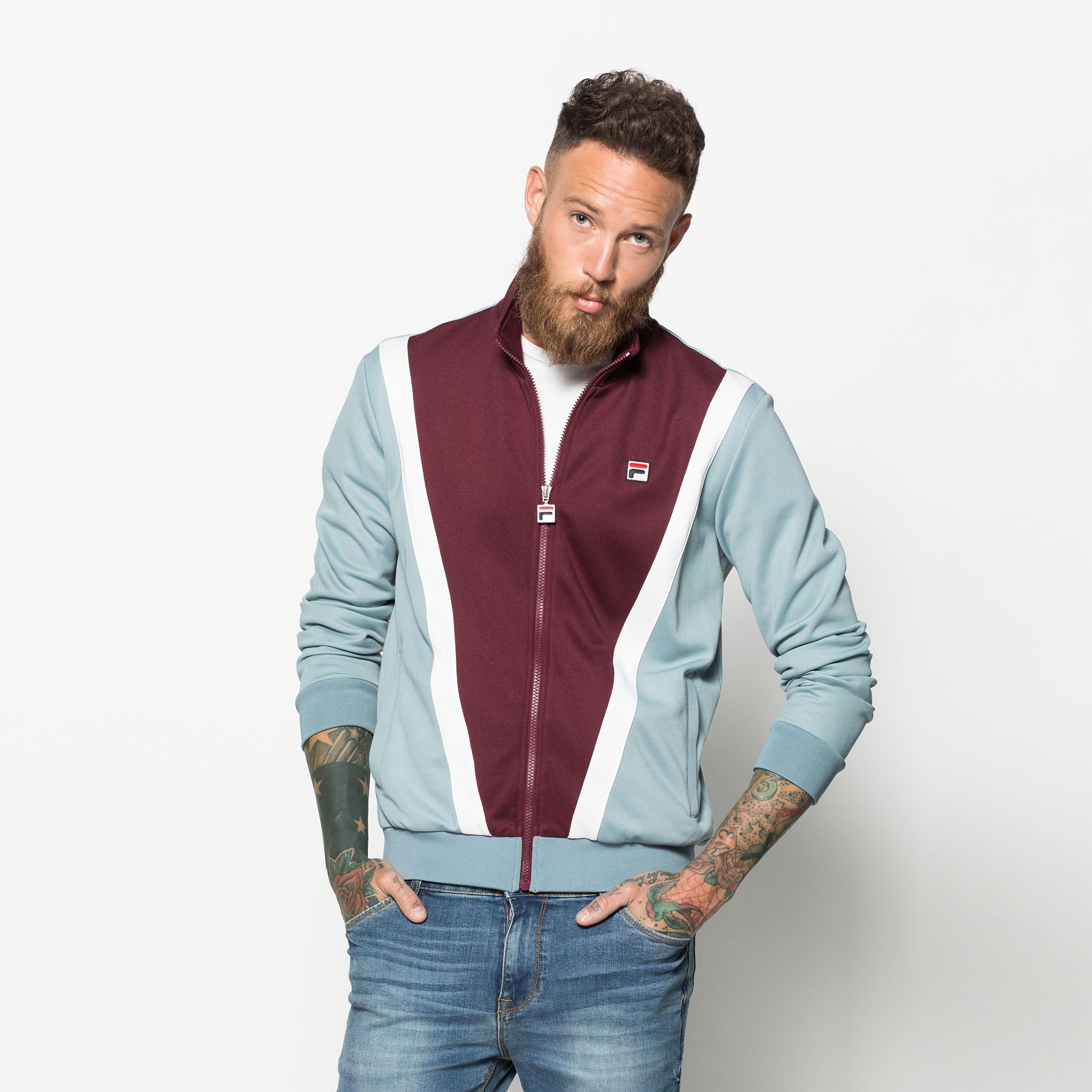 Cut and sew jacket orosso men