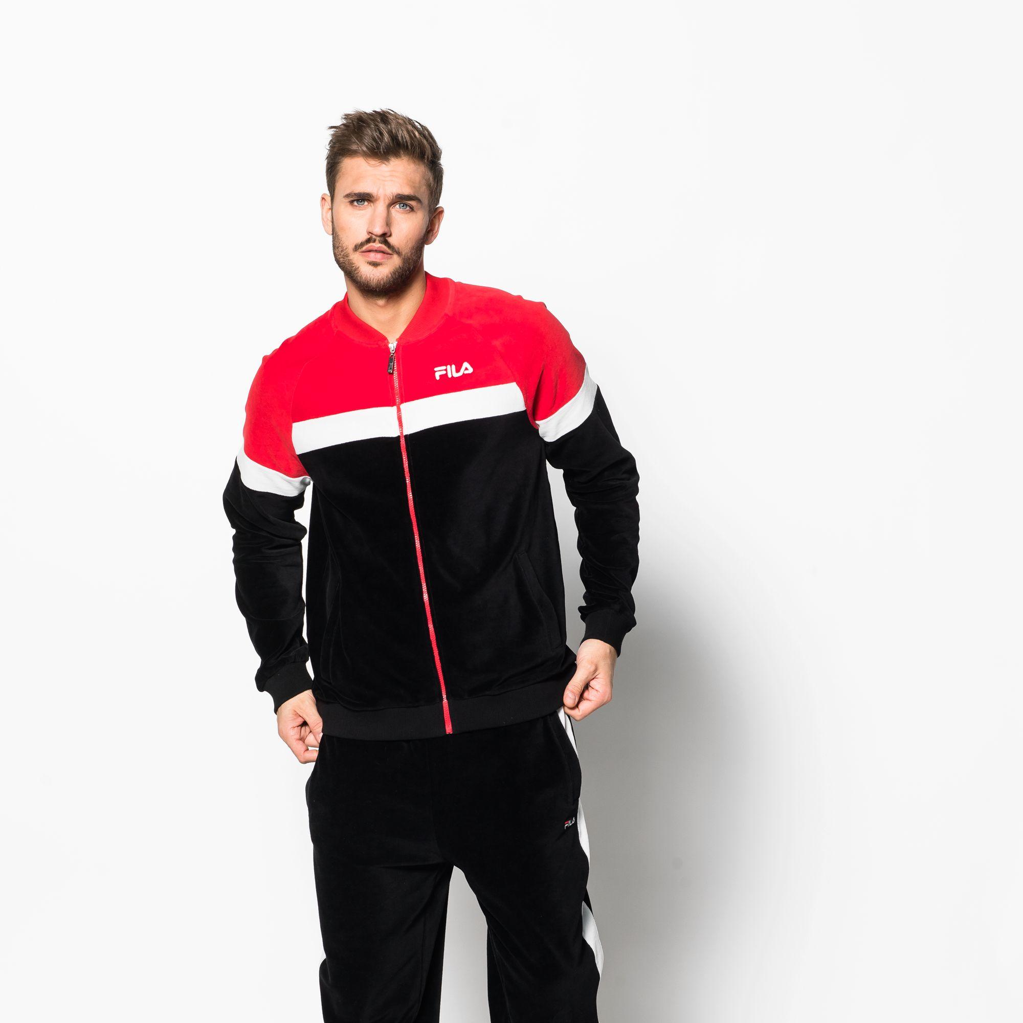 Kevin Velvet Track Jacket