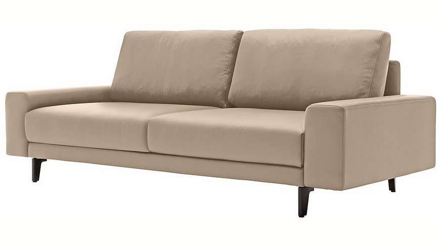 hülsta sofa 2-Sitzer Sofa »hs.450« wahlweise in Stoff oder Leder, mit kubischer Armlehne