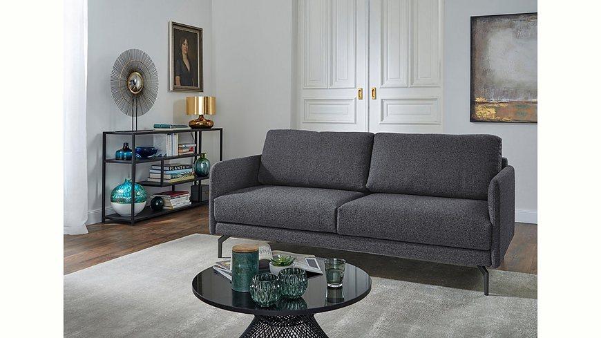 hülsta sofa 2-Sitzer Sofa »hs.450« wahlweise in Stoff oder Leder, mit schmalen Armlehnen