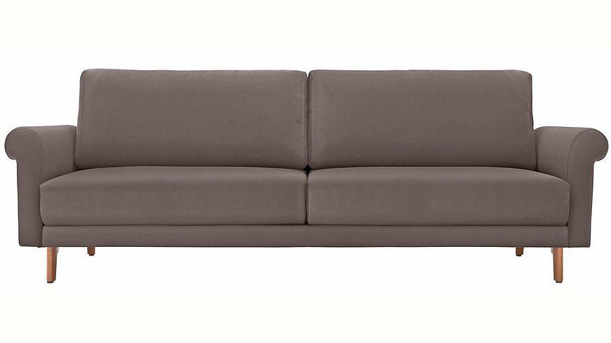 hülsta sofa 3-Sitzer Sofa »hs.450« wahlweise in Stoff oder Leder, im modernen Landhausstil