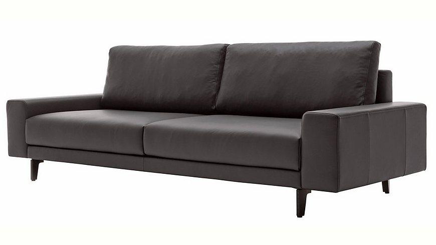 hülsta sofa 3-Sitzer Sofa »hs.450« wahlweise in Stoff oder Leder, mit kubischer Armlehne