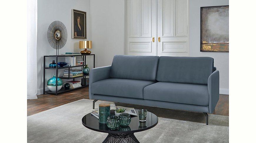 hülsta sofa 3-Sitzer Sofa »hs.450« wahlweise in Stoff oder Leder, mit schmalen Armlehnen