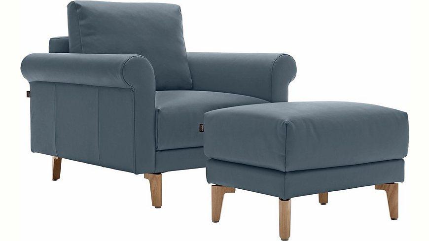 hülsta sofa Sessel »hs.450« wahlweise in Stoff oder Leder, im modernen Landhausstil