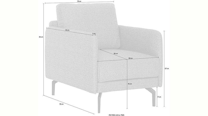 hülsta sofa Sessel »hs.450« wahlweise in Stoff oder Leder, mit schmaler Armlehne