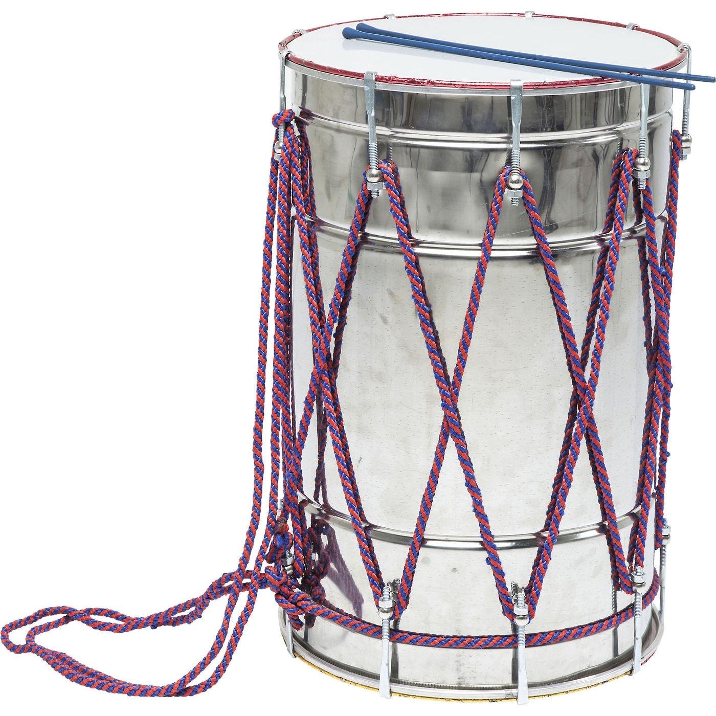 Deko Trommel Musica Silber 62cm