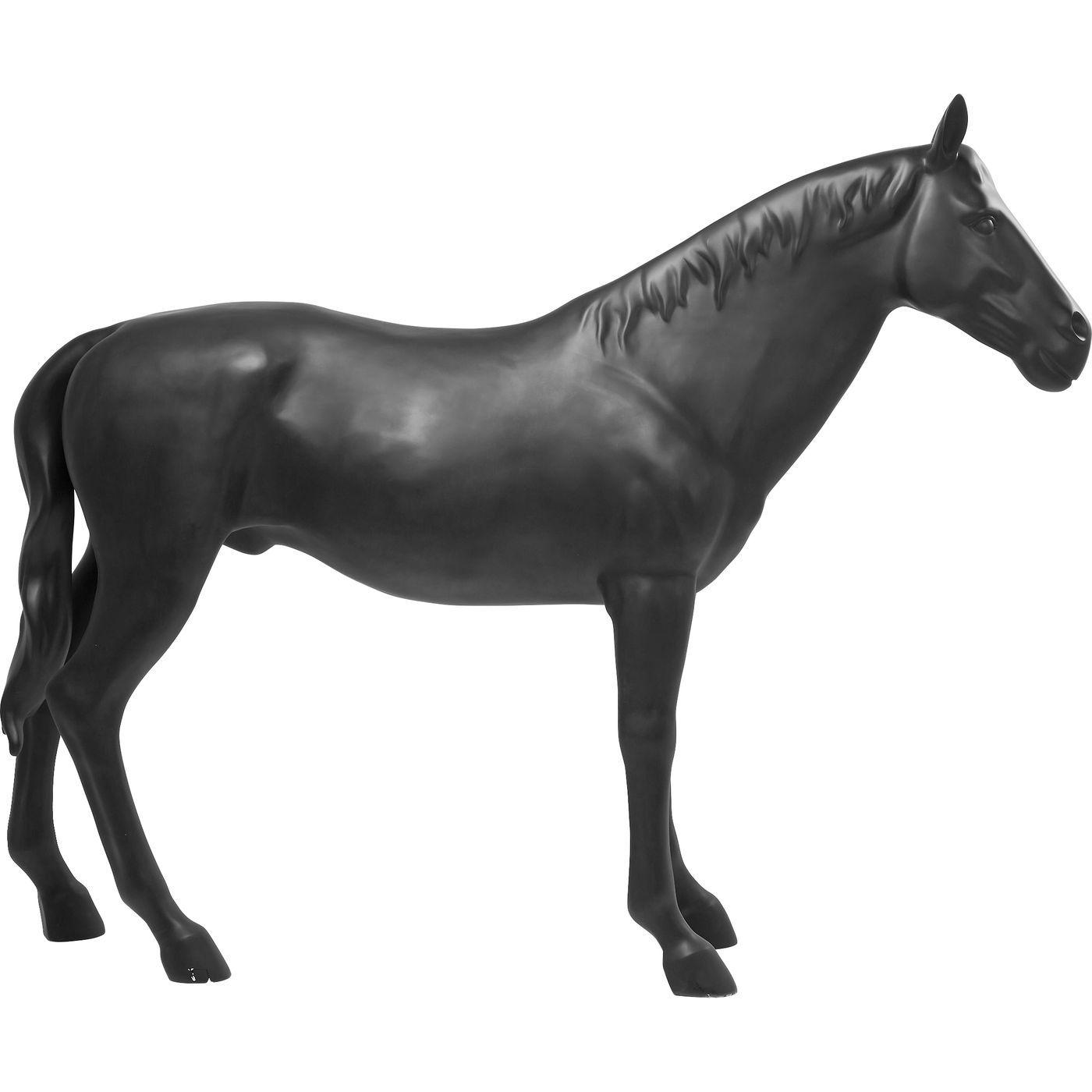 Deko Figur Horse Schwarz