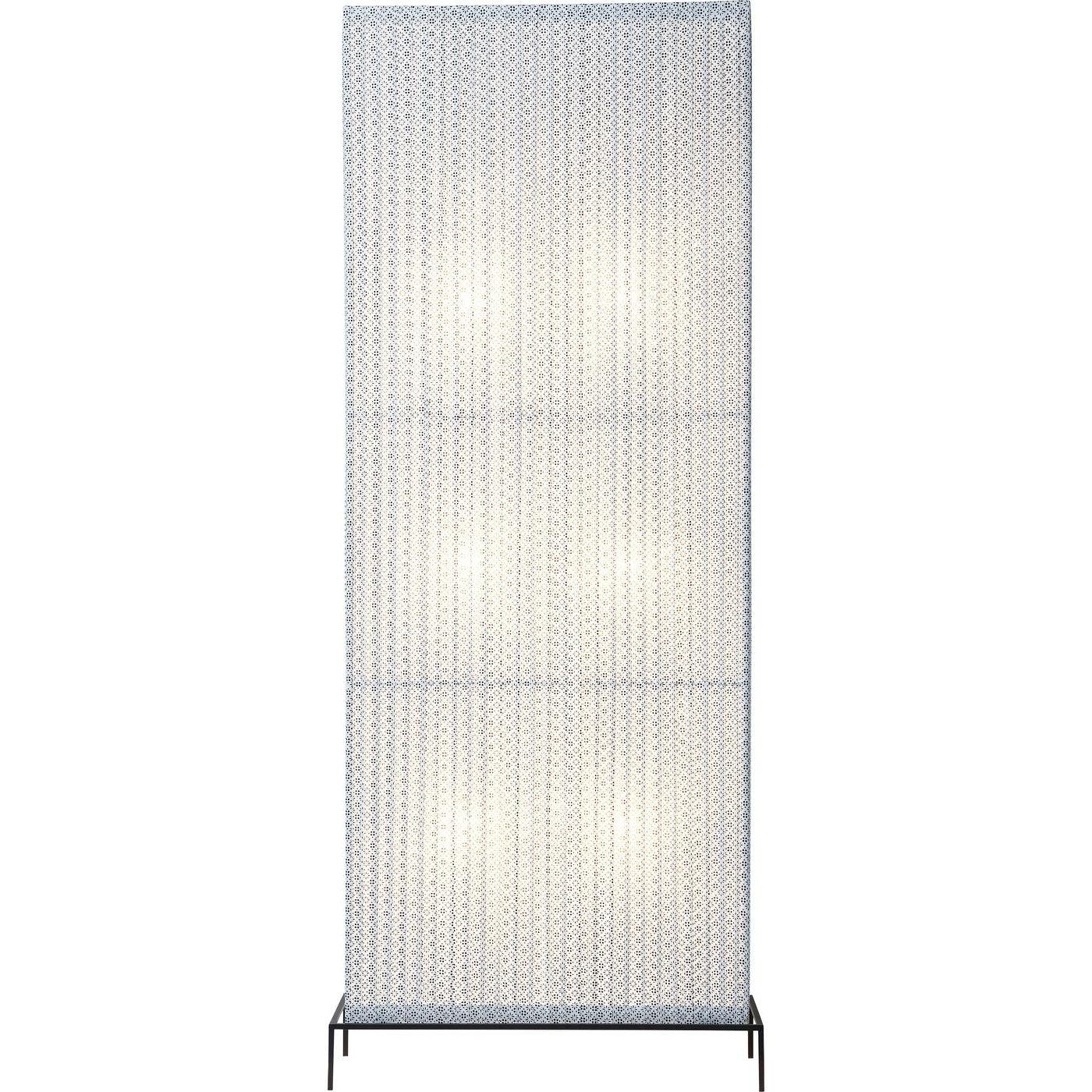 Stehlampe Rectangular Schwarz & weiß 185cm
