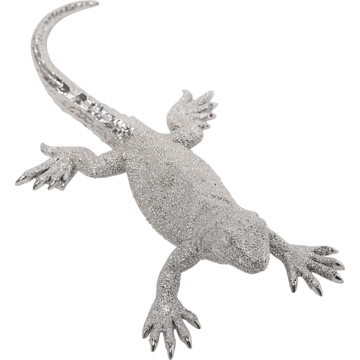 Deko Figur Lizard Silber Medium