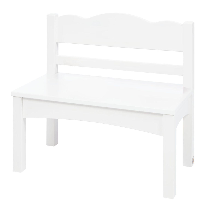 Sitzbank Martha Kids - Kiefer massiv - Weiß, Pinolino