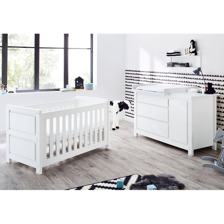 Babyzimmerset Milk Kids (2-teilig) - Weiß, Pinolino
