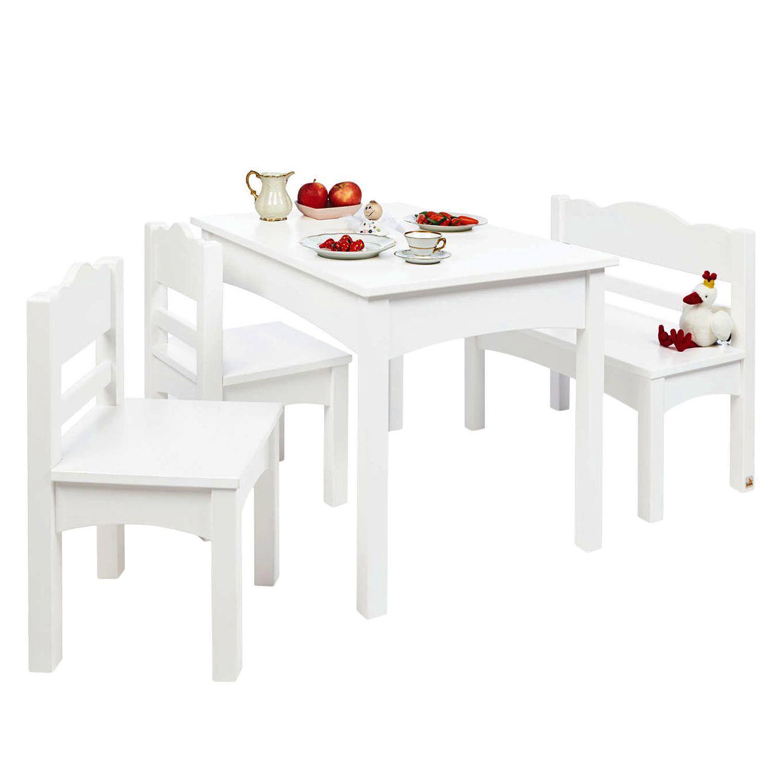 Kindersitzgruppe (4-teilig) Martha Kids - Kiefer massiv - Weiß, Pinolino