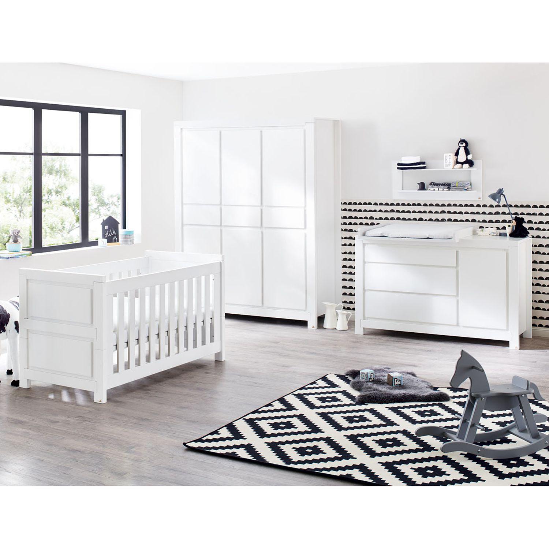 Babyzimmerset Milk Kids (3-teilig) - Weiß, Pinolino