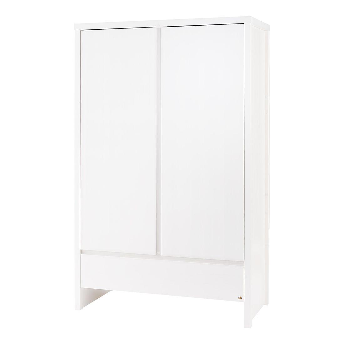 Kleiderschrank Aura (2-türig) - Fichte - Weiß - Lasiert, Pinolino
