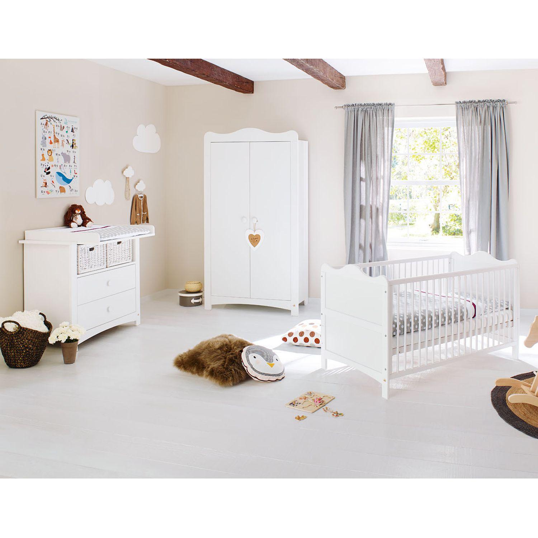 Babyzimmerset Florentina Kids I (3-teilig) - Weiß, Pinolino