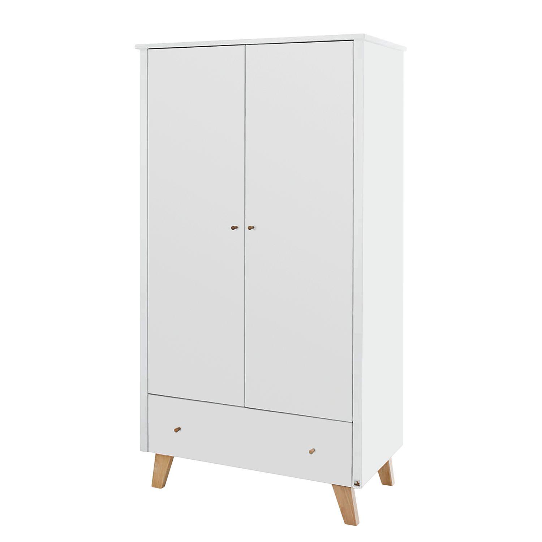 Kleiderschrank Pan Kids - Weiß / Eiche - 100 cm (2-türig), Pinolino