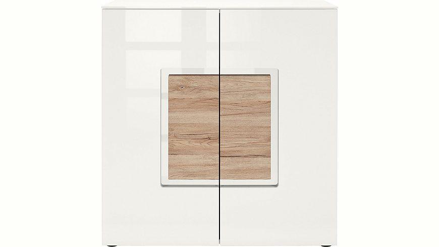 set one by Musterring Sideboard »arizona«, Hochglanz mit Absetzung in Holzoptik, Breite 95 cm