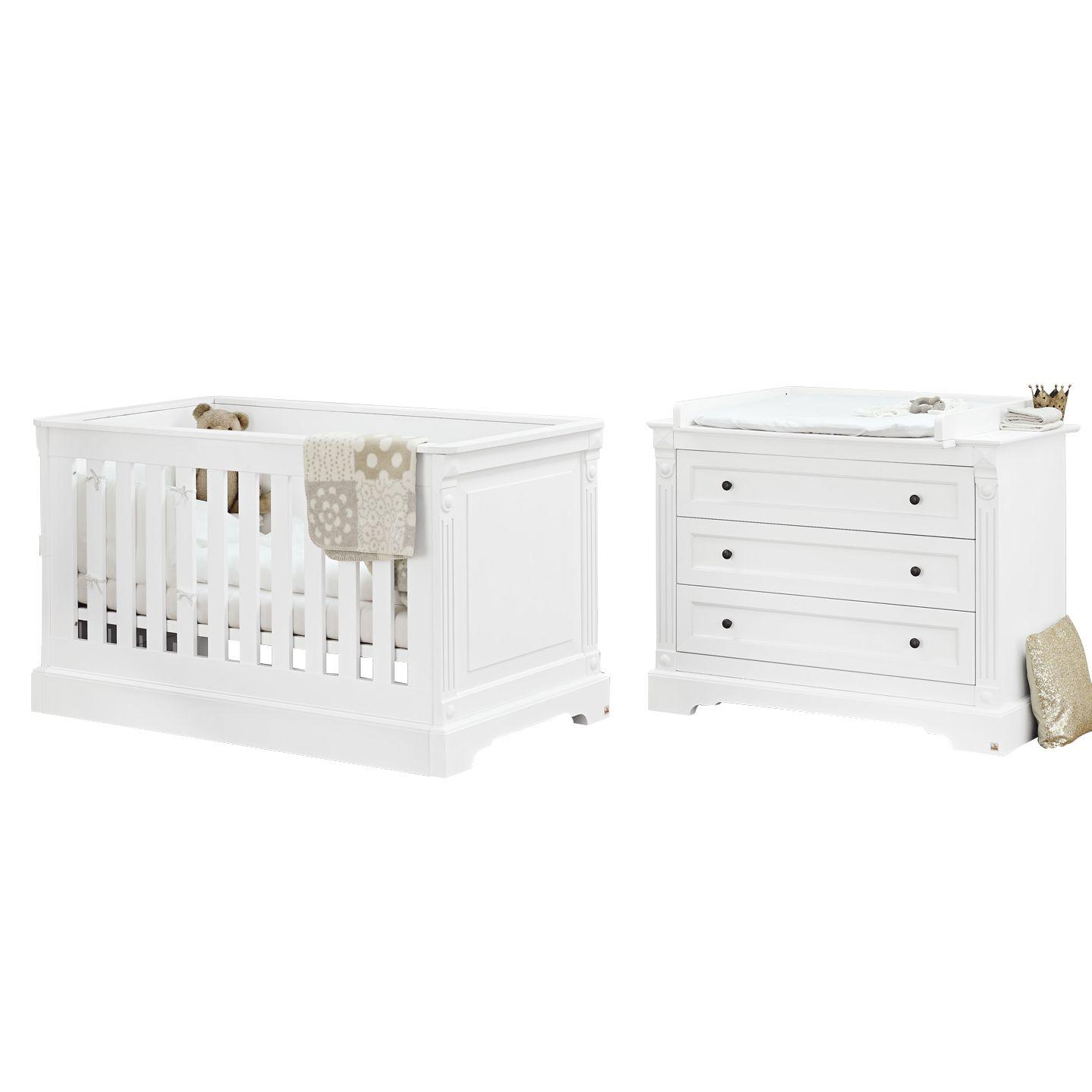 Babyzimmerset Emilia (2-teilig) - Weiß, Pinolino