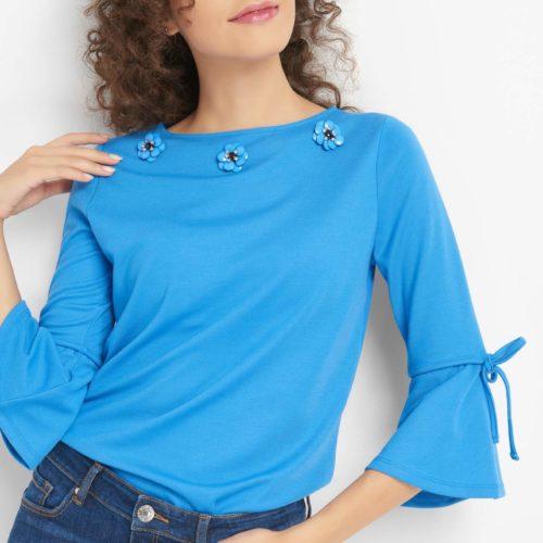 ¾-Shirt mit Schmuckdetails