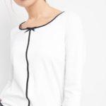 ¾-Shirt mit Zierschleife