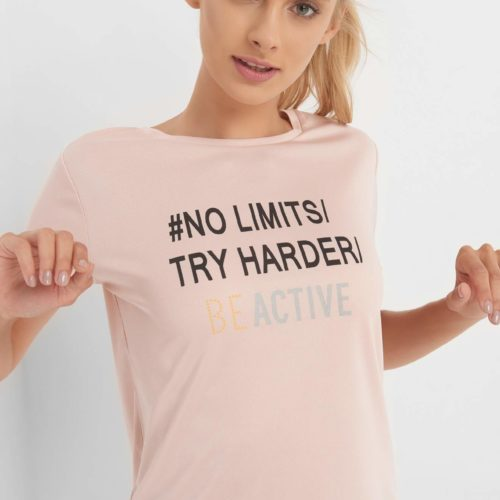 BE ACTIVE T-Shirt mit Slogan