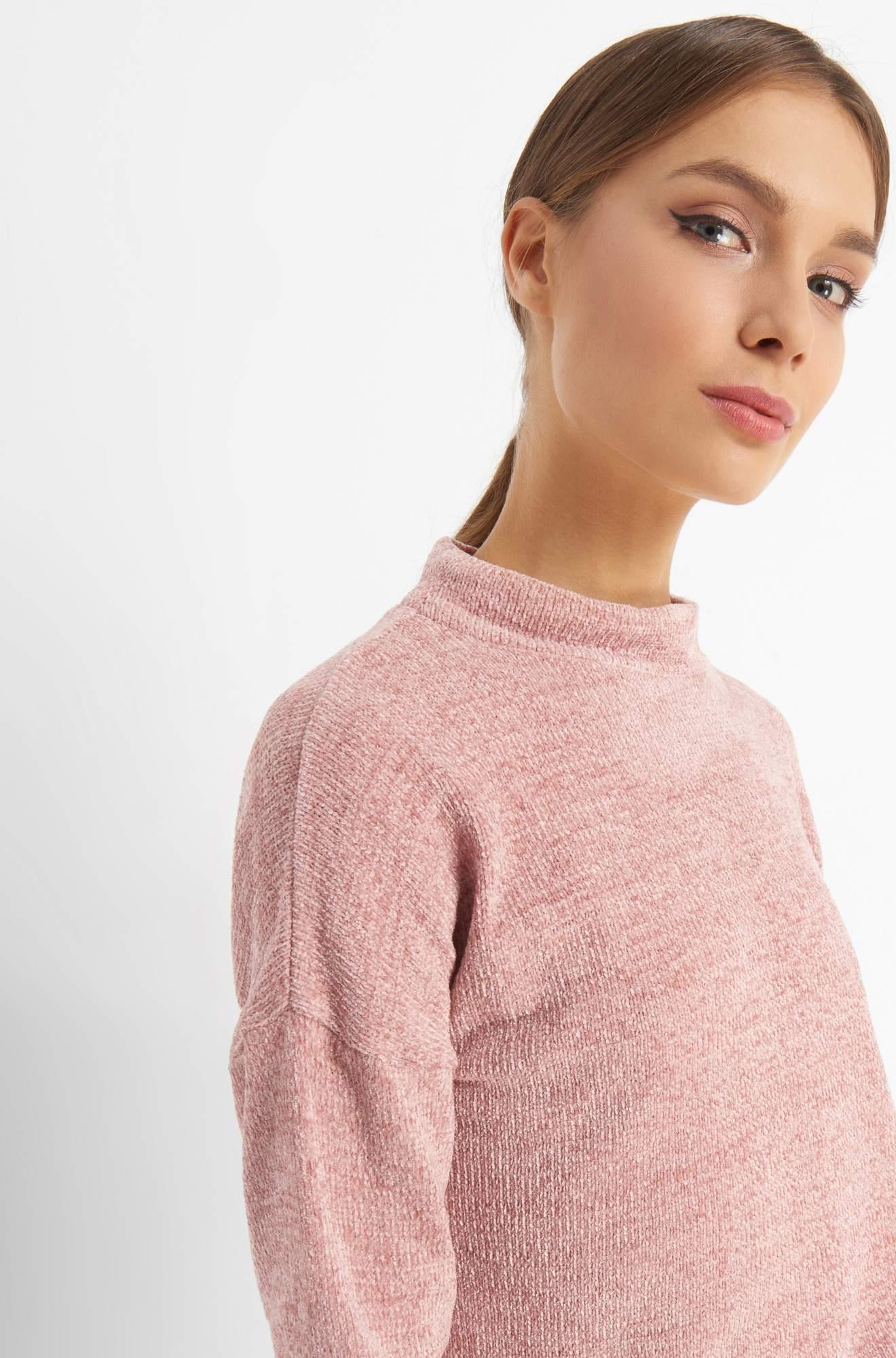 Pullover mit Halbrollkragen