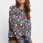 Langarmshirt mit Blumen
