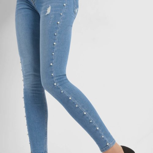 Skinny Jeans mit Perlen