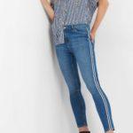 Skinny Jeans mit Streifen