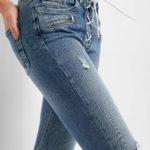 Skinny Jeans mit Schnürung