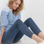 Ankle Jeans mit Zipper