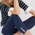 Ankle Jeans mit Details