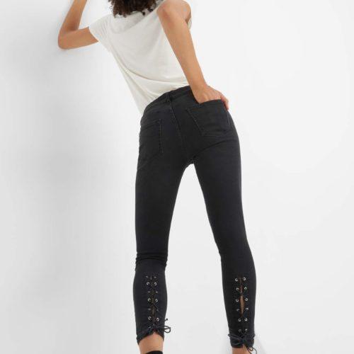 Ankle Jeans mit Schnürung
