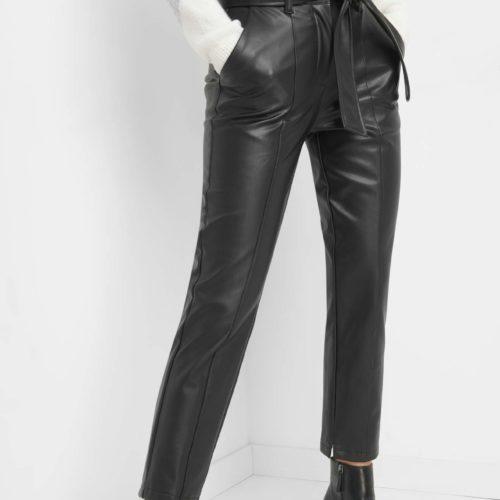 Hose aus Kunstleder mit Gürtel