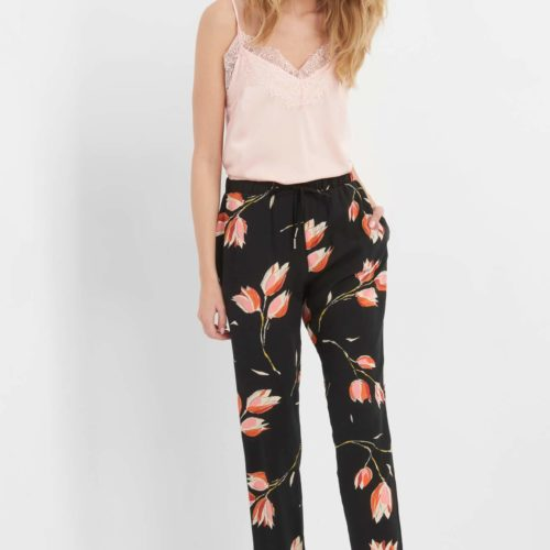 Slouchy-Hose mit Tulpen-Print