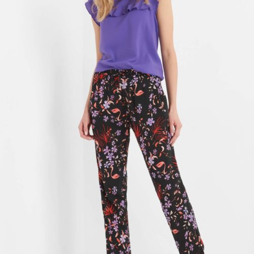 Slouchy-Hose mit Muster