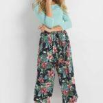Culotte-Hose mit Print