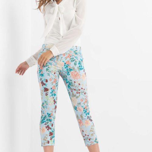 Elegante Hose mit Blumen-Print