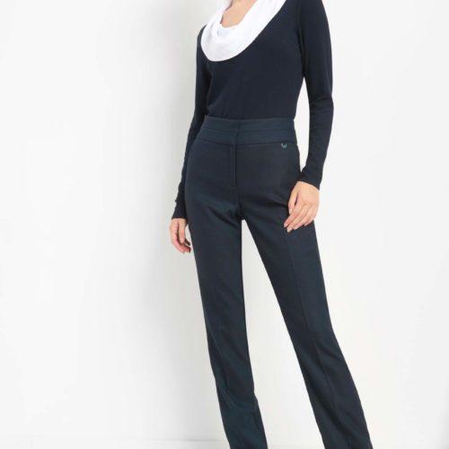 Anzughose mit hohem Bund