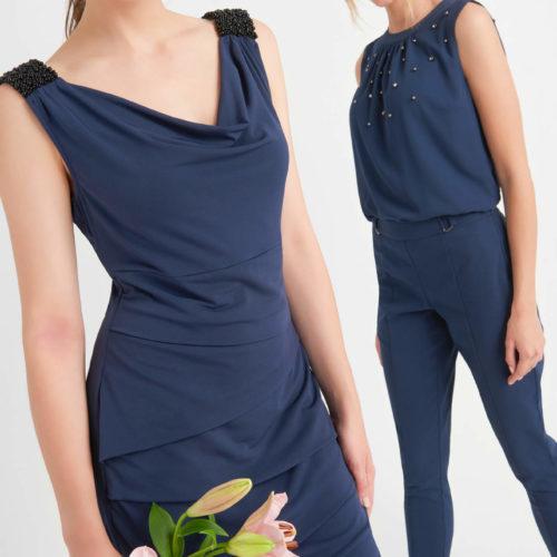 Bodycon Kleid mit Wasserfallausschnitt
