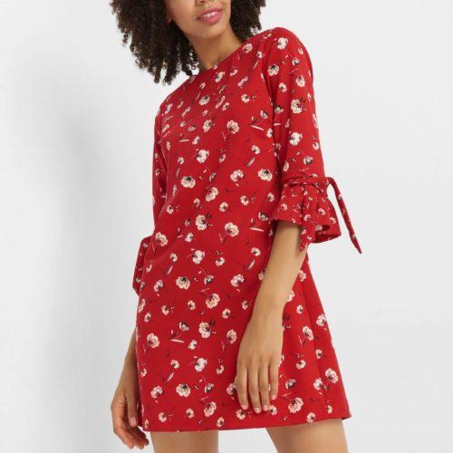 Geblümtes A-Linien-Kleid