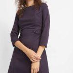 Jacquard-Kleid mit Punkten