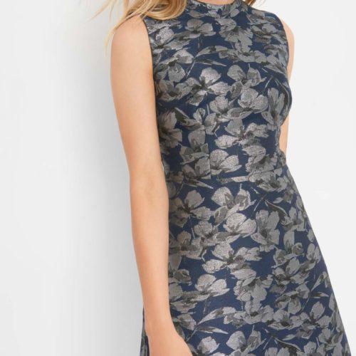 Jacquard-Kleid mit Blumenprint